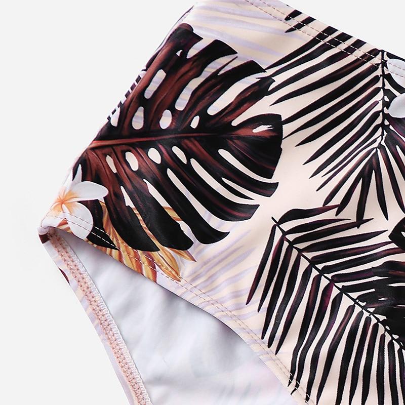 Criss Cross Top With Tropical Bottoms Bikinis Set 7