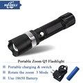 Portable led flashlight 3 mode 2000 Lumen en alliage d'aluminium CREE Q5 lampe torche lampe LED lampe noir linternas zoom