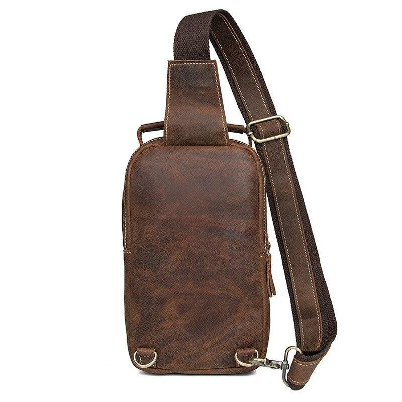 Männer Horse Leder Crazy Brust 4009b Tasche Original Neue Alavchnva Wildleder Retro Schokolade Design qOxwtp06