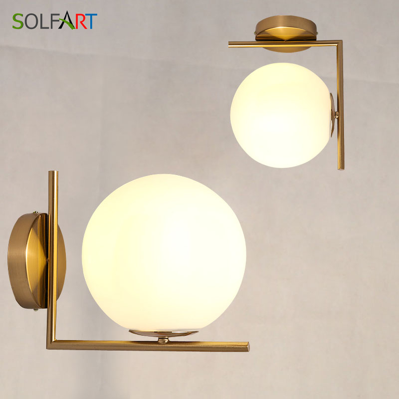 Sconces Wall Lamps led Wall Moon Lamp For Home Industrial Decor Light Fixtures Bathroom Light Applique Murale Luminaire