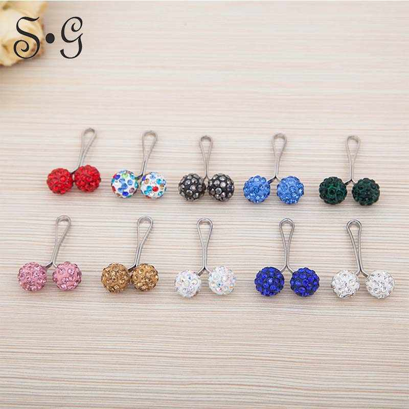 Wholesale Scarf Buckle Clip Multi Fuction Muslim Brooches Pins Hijab 12pcs rhinestone brooch wide Safety Scarf Pins For Women
