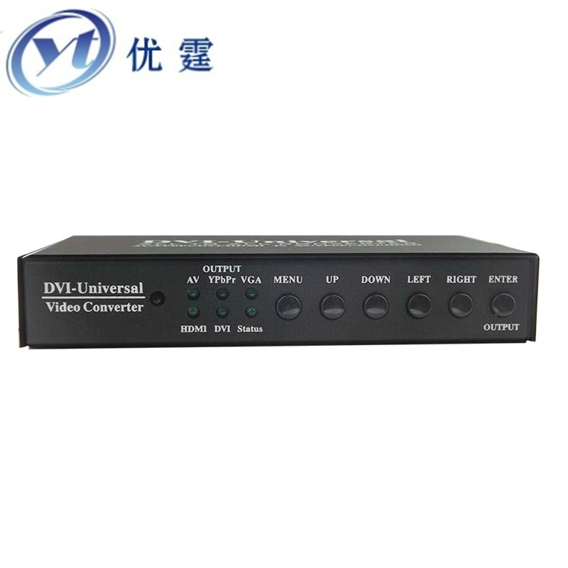 цена на YT-HD1603 All to AV/YPbPr/VGA/DVI/HDMI Converter support A variety of audio and video interface conversion signal