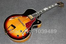 Benutzerdefinierte großhandel Sir F loch hohlen e-gitarre ems-freies verschiffen