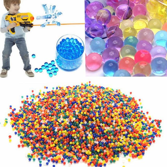 7be39d202f 10000pcs/bag Crystal Soil Hydrogel Gel Polymer Water Gun Paintball Bullet  Toy For Boys Flower Wedding Home Decor-in Crystal Soil from Home & Garden  on ...