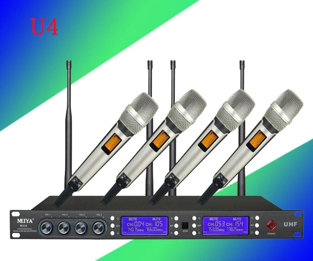 Подробнее о Wireless KTV stage performance conference four microphone U4 ktv