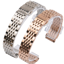 купить 14MM 16MM 18MM 19MM 20MM Stainless Steel Watc Strap For TISSOT Watch band 1853 T41 T17 Silver Golden Rose Gold watch bracelet по цене 1563.15 рублей