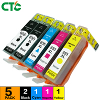 5 Compatible HP655Inkjet Cartridge Hp 655 Hp655xl 655xl Ink Cartridge For HP Deskjet 3525 4615 4625