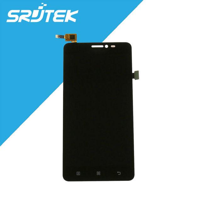 """5 """"para lenovo s850 sensores de pantalla lcd con pantalla táctil digitalizador asamblea piezas de repuesto negro"""