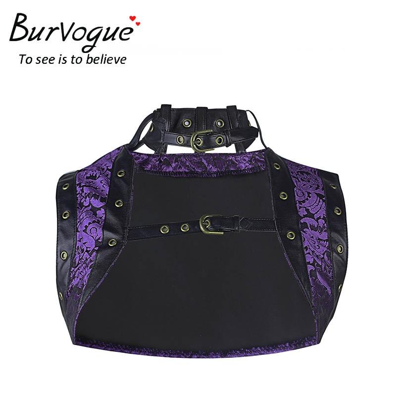 Burvogue女性夏ゴシックコルセットトップ新しいプラスサイズコルセットノースリーブプリントスチームパンクコルセットトップドビー刺繍コルセットトップ