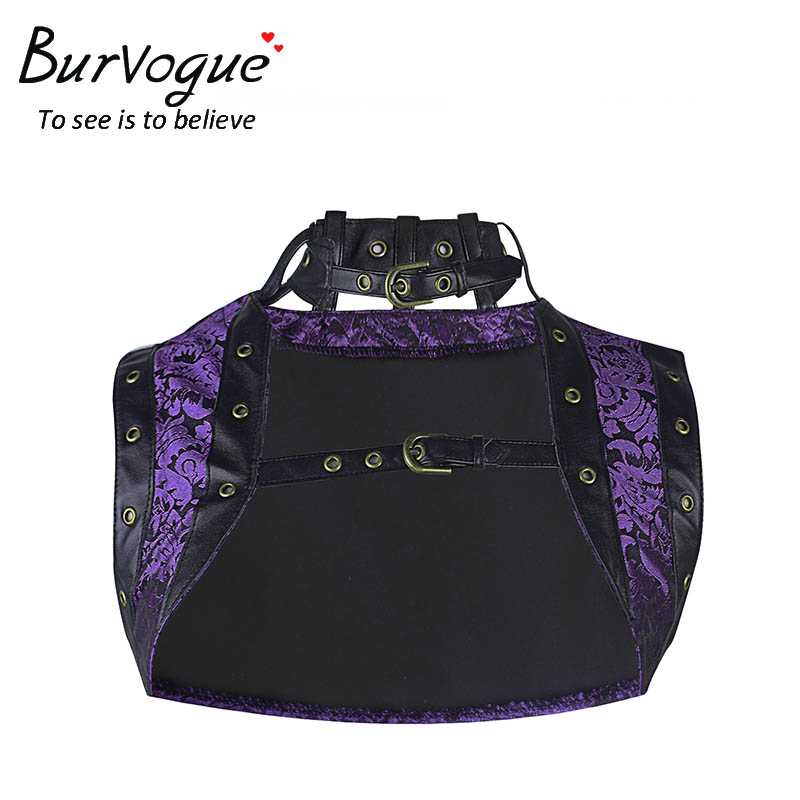 Burvogue Women Summer Gothic Korzet Top New Plus Size Korzet bez rukávů Tisk Steampunk Korzet Top Dobby Výšivka Korzet Top