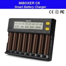 MiBOXER C8 18650 Battery Charger LCD Display 1.5A for Li-ion LiFePO4 Ni-MH Ni-Cd AA 21700 20700 26650 18350 17670 RCR123 18700 стоимость
