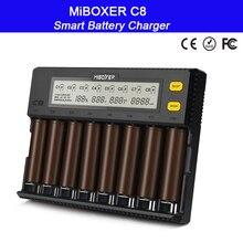 MiBOXER C8 18650 Battery Charger LCD Display 1.5A for Li-ion LiFePO4 Ni-MH Ni-Cd AA 21700 20700 26650 18350 17670 RCR123 18700 цена и фото