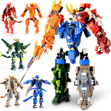 1055PCS Figures Transformation Robot Model Blocks Dinosaur Building Toy Figure Building Blocks Brick Toys For Children Kids Gift