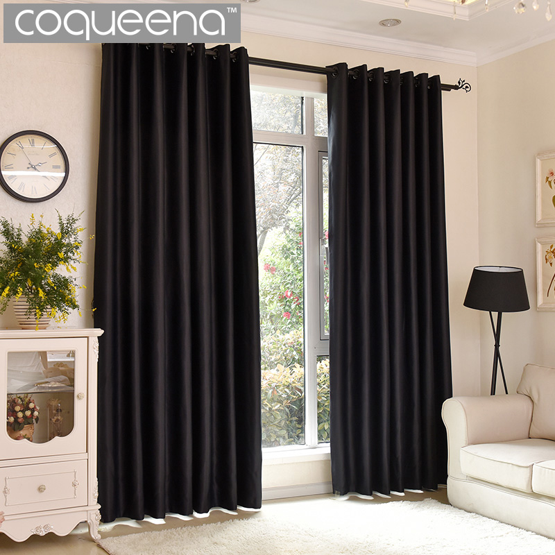 Modern Plain Solid Thermal Blackout Curtains For Living Room Bedroom Thick  Window