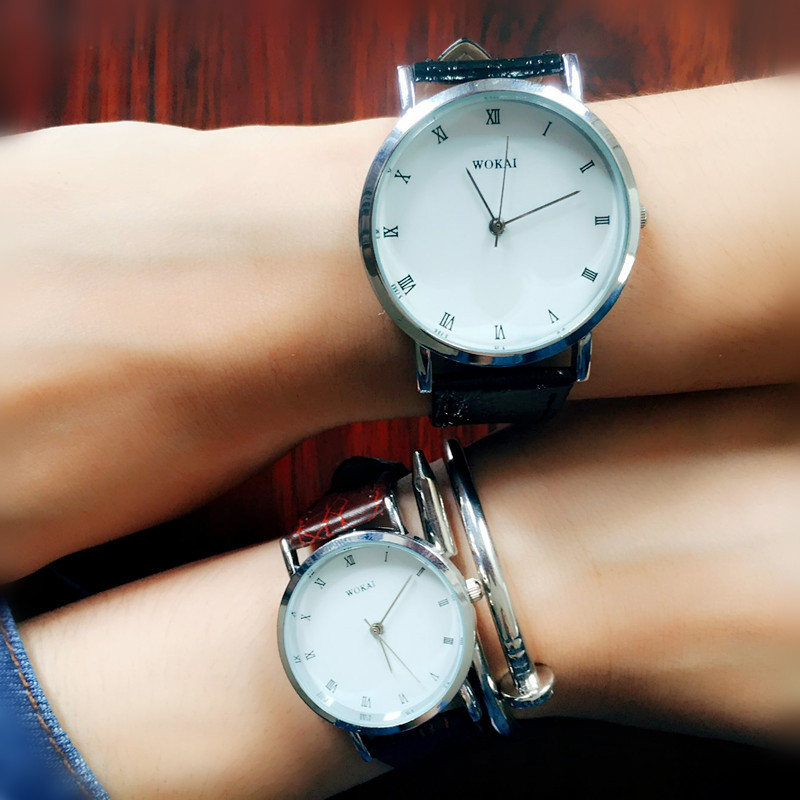 Quartz Wrist Watches Reloj Hombre Mujer Fashion Watch 2018 Couple Roman Numerals Wrist Watch Men Women Leather Strap Clock