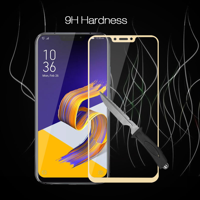 """Full Cover Tempered Glass For ASUS 5 2018 ZE620Kl 6.2"""" Phone Screen Protector Glass For Zenfone 52018 ZE 620Kl Protective Film"""