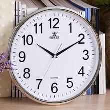 POWER Brand 12 Inch Circular Large Wall Clock Simple Horloge Murale Reloj De Pared Klok Silent