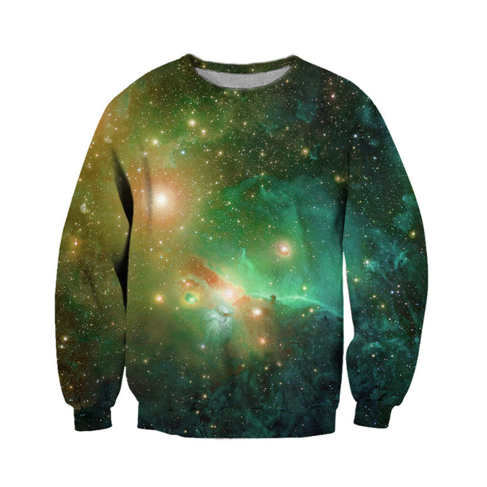 Universe Mars Punk Style Sweatshirt 3d Dreamlike Sky Pullover Sweatshirts Fitness Man Wear Male O-neck Outwear Plus Size 6XL