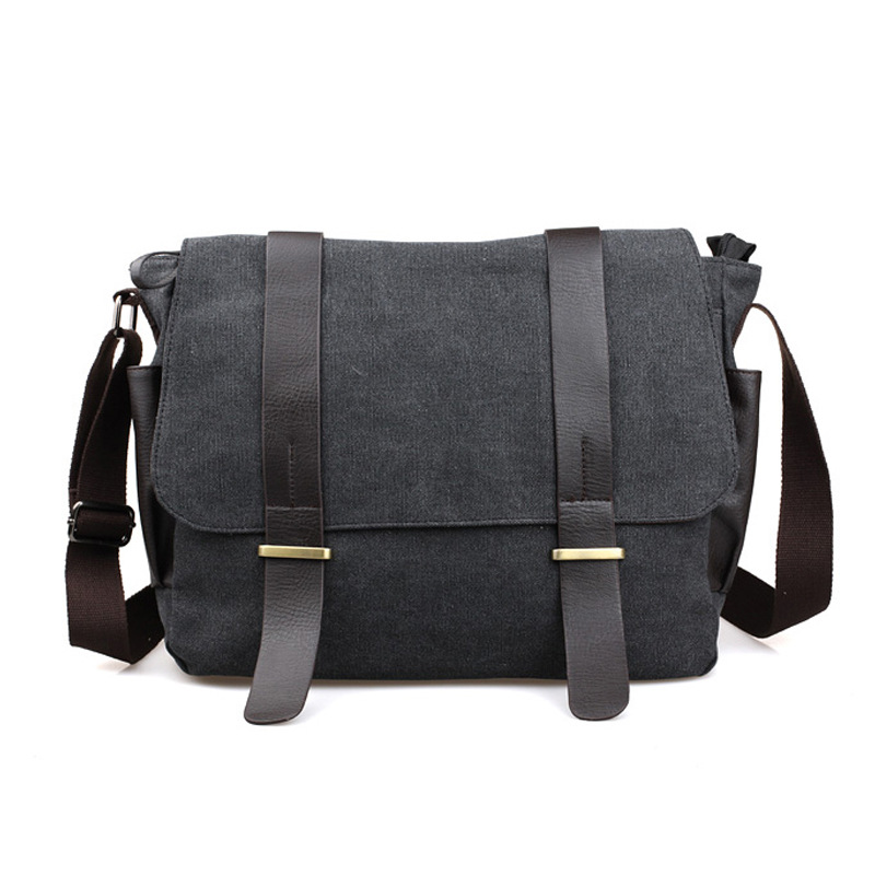 fashion men s shoulder bag cross body travel bag student b canvas messenger bag male versipack