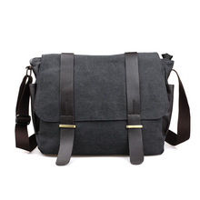 fashion men's shoulder bag cross body travel bag student b canvas messenger bag male versipack