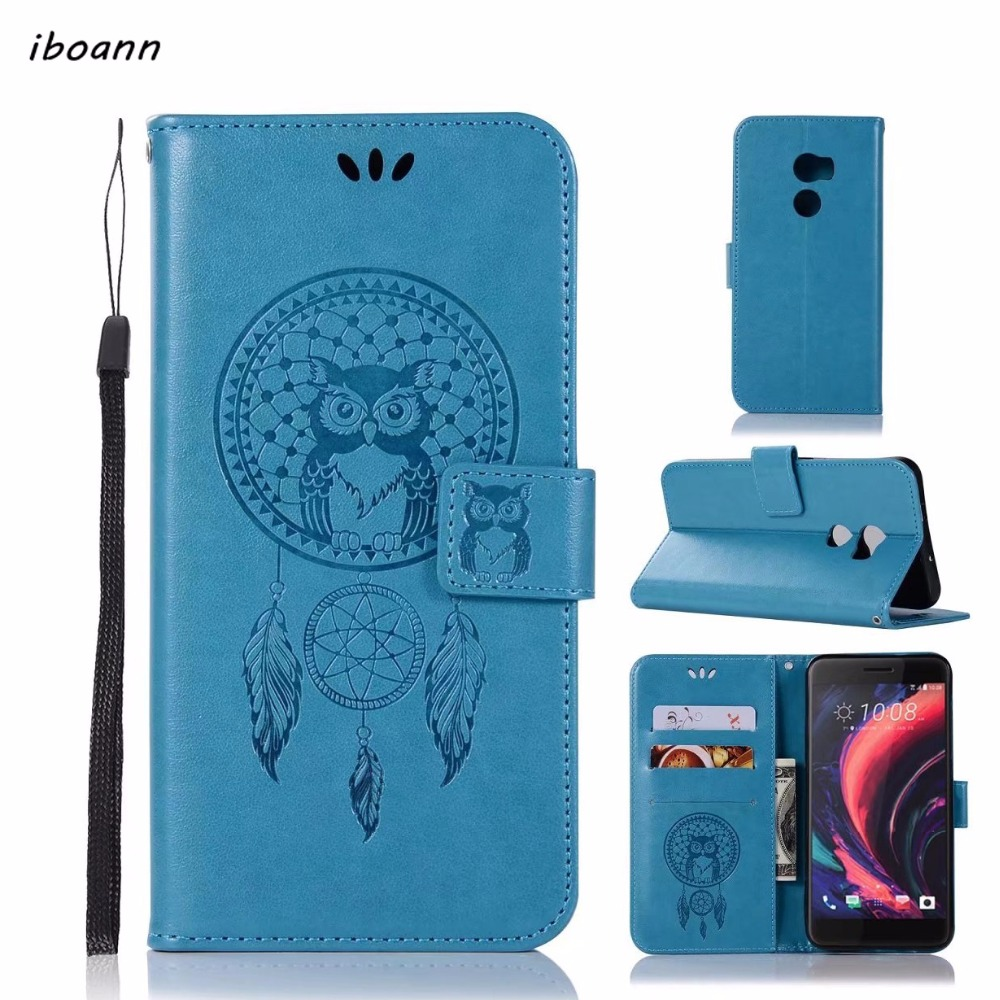 iboann dream catcher owl PU Leather stand Case for HTC X10 U11 phone cases cover