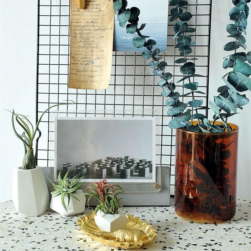 Pinkmore concrete planter molds for sale 3D Geometric flower pot silicone molds