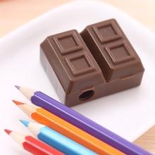 Ластиком шоколад пластиковых карандашей точилка корейский прекрасный творческий школьные принадлежности канцелярские