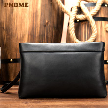 цены Men's leather hand bag leisure business simple envelope hand bag grab wallet mobile phone bag