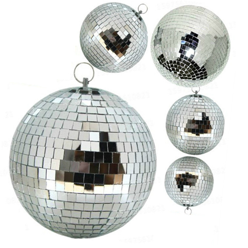 D15CM 20CM 25CM Rotating Reflection Glass Mirror Disco Ball With Motor