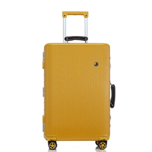 20″24″26″29″ New blue yellow computer Aluminum body rolling hardside baggage trolley suitcase with wheels