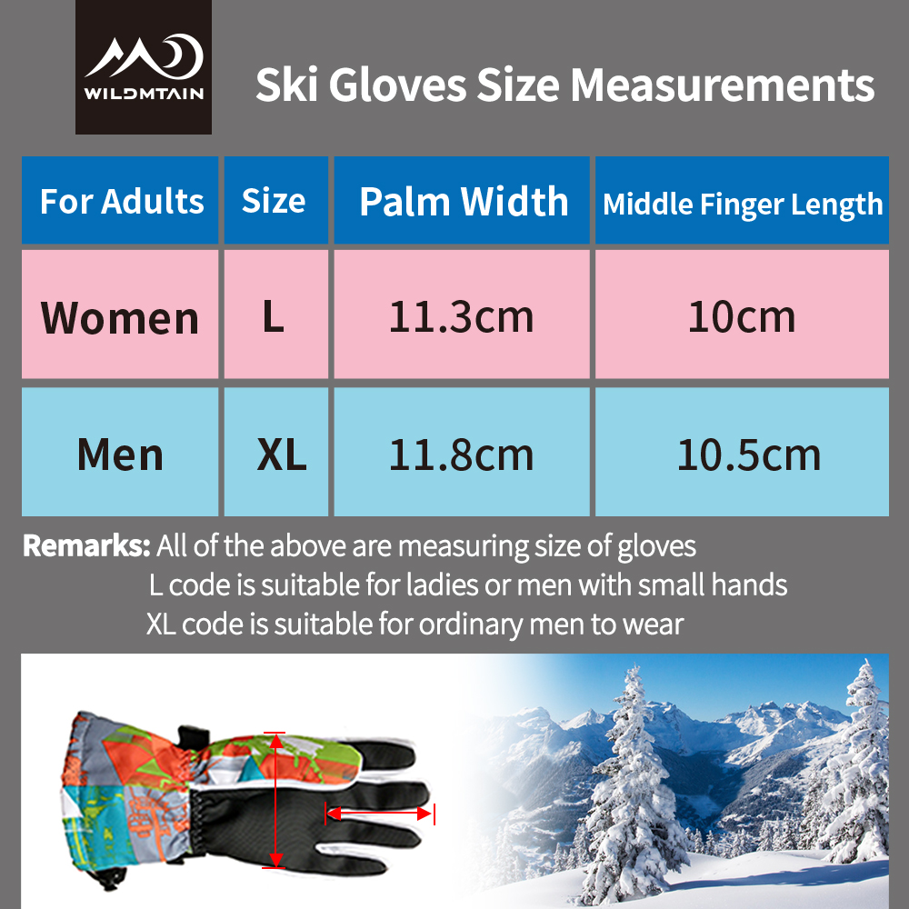 WILDMTAIN Ski Gloves Waterproof Breathable Warm Gloves for Cold Weather Women Men Windproof Snowboard Motorcycle Gloves ST 12 in Skiing Gloves from Sports Entertainment