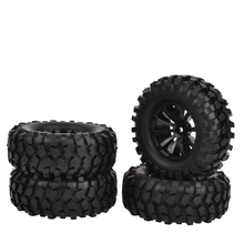 4PCS 96mm 1.9 inch Rubber Tires With Foam Inserts and wheel Rims for Axial SCX10 Tamiya CC01 D90 RC Car