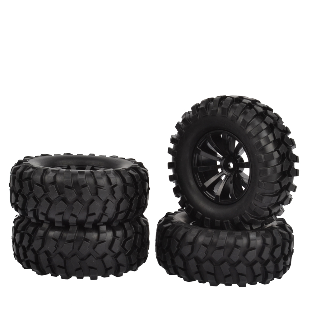 4PCS RC 1/10 Off-Road Car Beach Rock Crawler Tires Tyre Wheel Rim Crawlr tire set 96mm 1.9 mxfans 4pcs rc 1 10 rock crawler car black plastic wheel rim