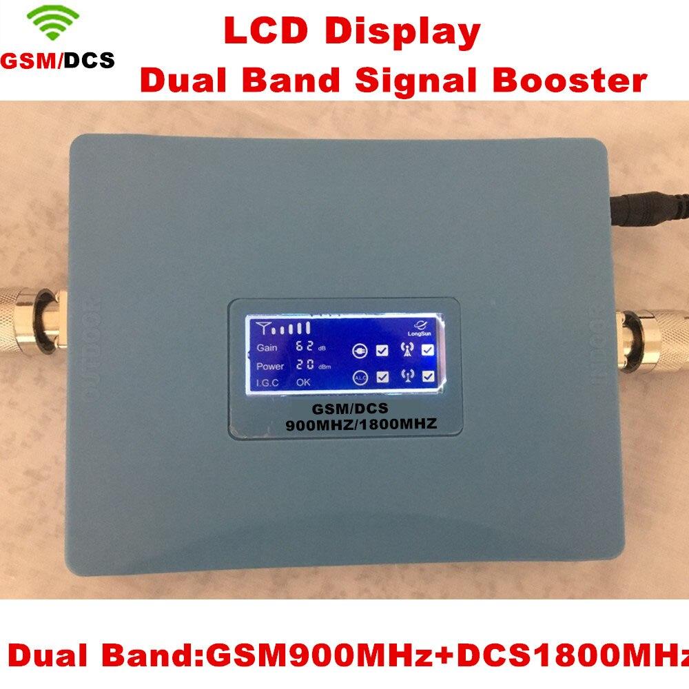 GSM 900 1800 Ripetitore 2g 4g lte Ripetitore Dual band 62dbi Display LCD Del Segnale GSM DCS 900/1800 MHz amplificatore DCS Ripetitore Del SegnaleGSM 900 1800 Ripetitore 2g 4g lte Ripetitore Dual band 62dbi Display LCD Del Segnale GSM DCS 900/1800 MHz amplificatore DCS Ripetitore Del Segnale