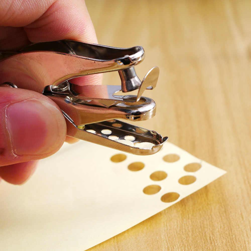 6 мм Металл одно отверстие Ручка перфоратора бумага удары Скрапбукинг 8 страниц школы офисные поставки