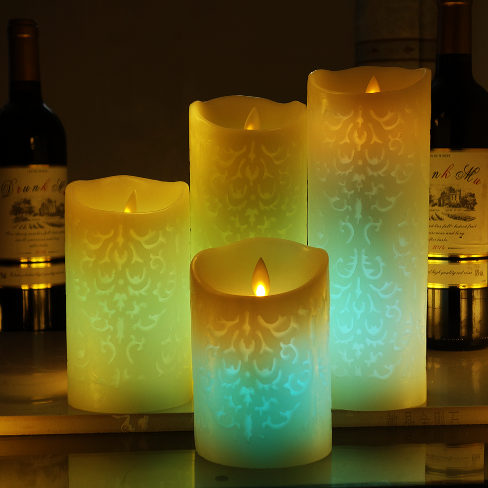remote control flameless candles color changing led candle with timer scented bougie velas electric home wedding decoration - Flameless Candles With Timer