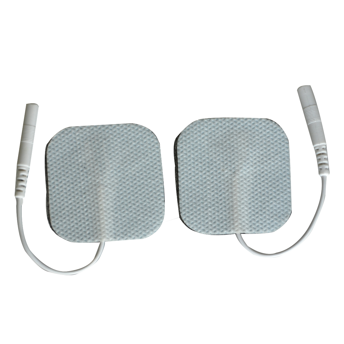 200Pairs/Lot Electrode Nerve Stimulator Pads Self-adhesive For Digital Physiotherapy Machine Massager 4*4cm With Wire Cable цена