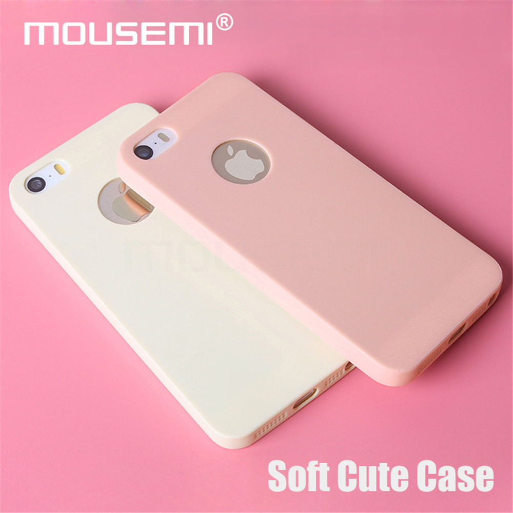 MOUSEMI Phone Cases Silicone 5S se For iPhone Case Candy For iPhone 5s se 5 Case Cute Silicone Pink Soft Luxury Matte Coque 5s 5 (1)