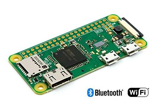 10 pièces Raspberry Pi Zero W Conseil 1 GHz CPU 512 MO de RAM avec WIFI et Bluetooth RPI 0 W NOUVELLE ARRIVÉE 2017
