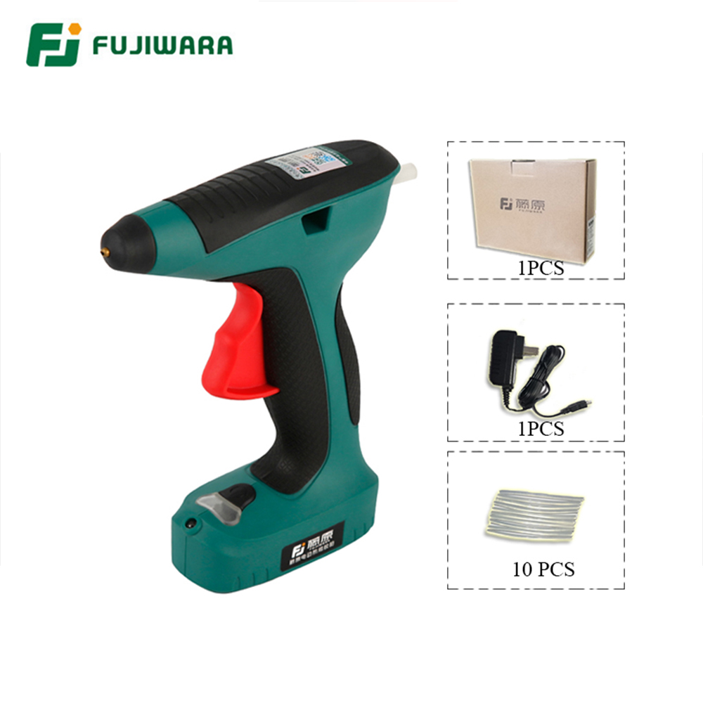 Tools : FUJIWARA High Quality 3 6V 1500mAh Rechargeable Lithium Electric Hot Melt Glue Gun