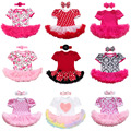 2PCS Newborn Baby Girls Infant Toddlers Tulle Tutus Romper Dress Headband Outfits Birthday Party Costume Outfits Clothes Sets