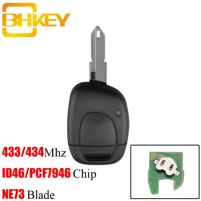 BHKEY 1Buttons 433Mhz Remote Car key For Renault NE73 Blade PCF7946 Chip Fit For RENAULT Clio Master KANGO Free shippingBHKEY 1Buttons 433Mhz Remote Car key For Renault NE73 Blade PCF7946 Chip Fit For RENAULT Clio Master KANGO Free shipping
