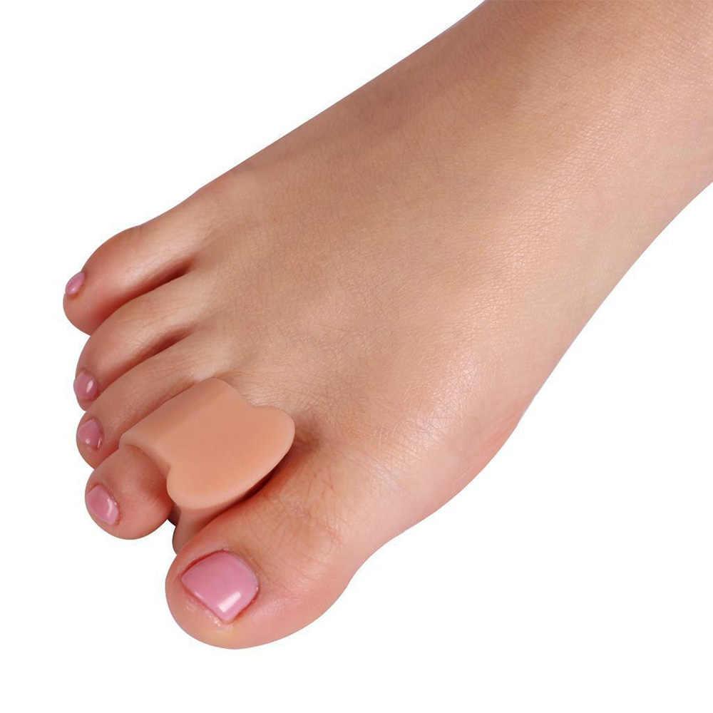 زوج واحد من أداة فرد فاصل أصابع القدم من جل السيليكون مصحح فواصل الورم أداة العناية بالقدم
