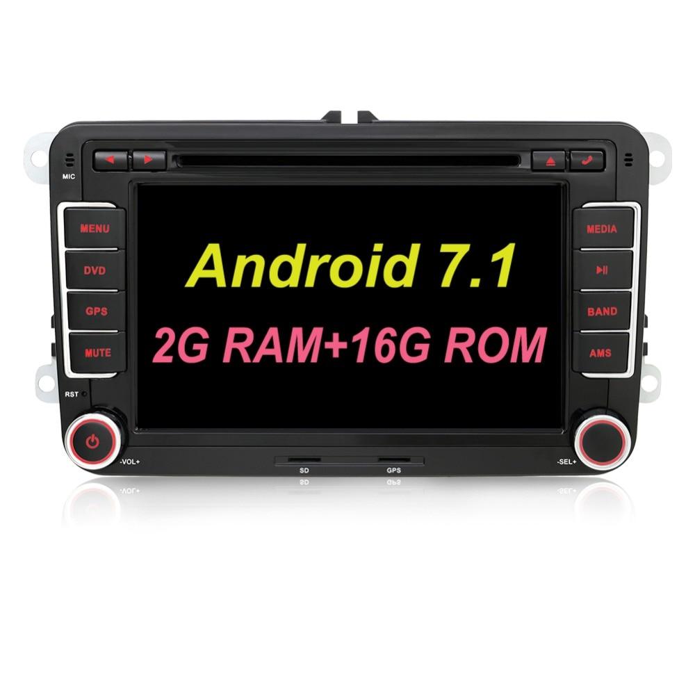 Android 7.1 avtomobil dvd vw gps naviqasiya Wifi + Bluetooth + Radio - Avtomobil elektronikası - Fotoqrafiya 2