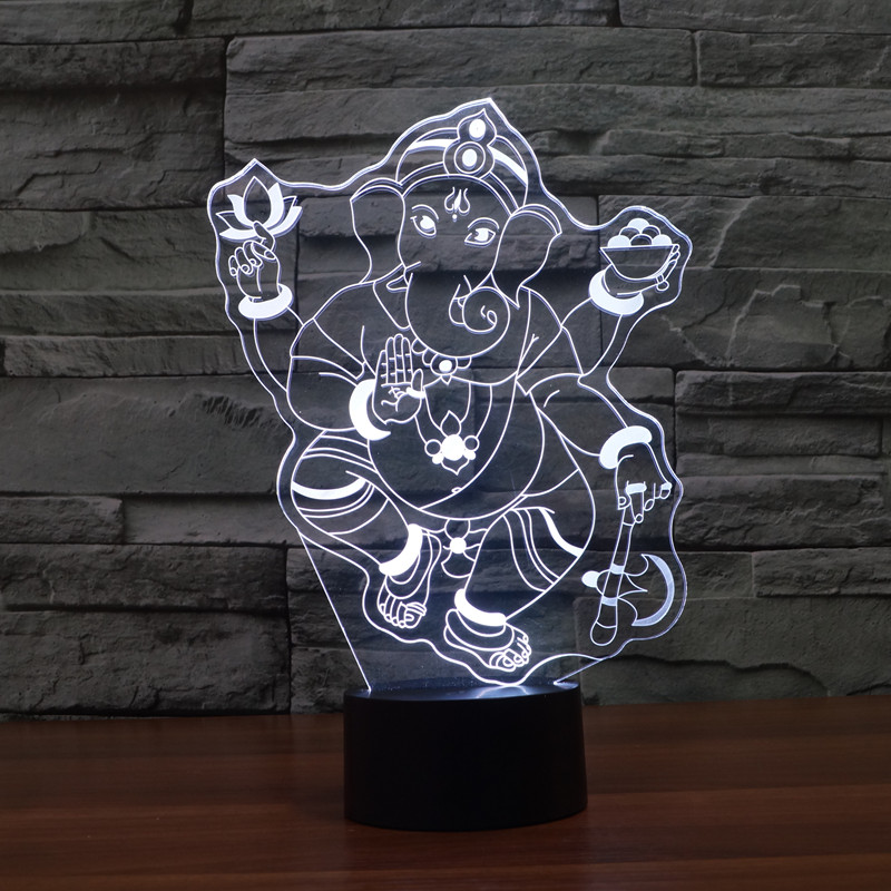 3d-Lamp Creative Toys Christmas-Gift of Seven-Color LED Energy-Saving Touch Foreign-Trade