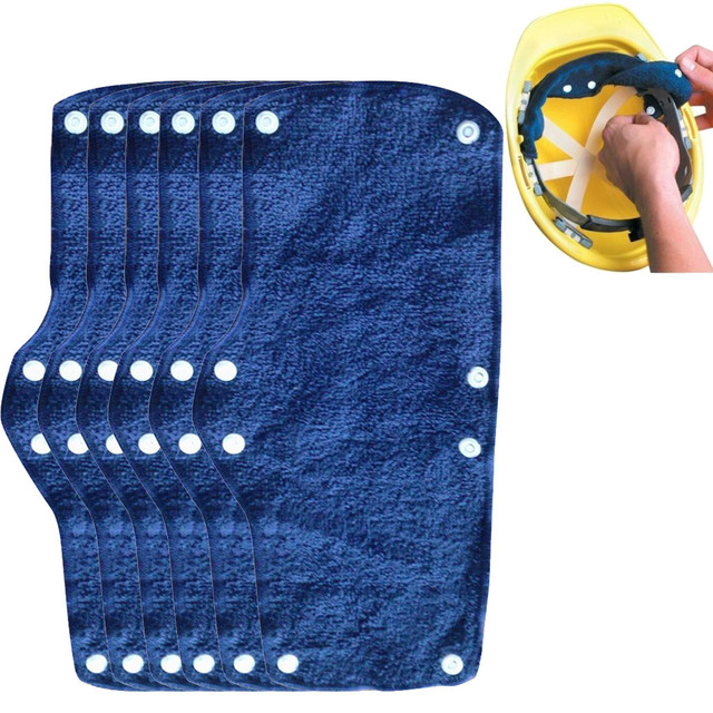 1pc Summer Selling Beat The Heat Blue Snap-on hard hat sweatband sweat belt for Safety helmet inner d90621