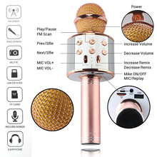 DOITOP Wireless Microphone Magic Karaoke Microphone For Smart Phone PC WS858  MIC BT Speaker Record Music Microfone Player