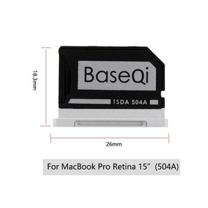 "Image 2 - מקורי BaseQi אלומיניום MiniDrive מיקרו SD כרטיס מתאם CardReader Ninja התגנבות כונן עבור Macbook Pro רשתית 15 ""זיכרון כרטיס"