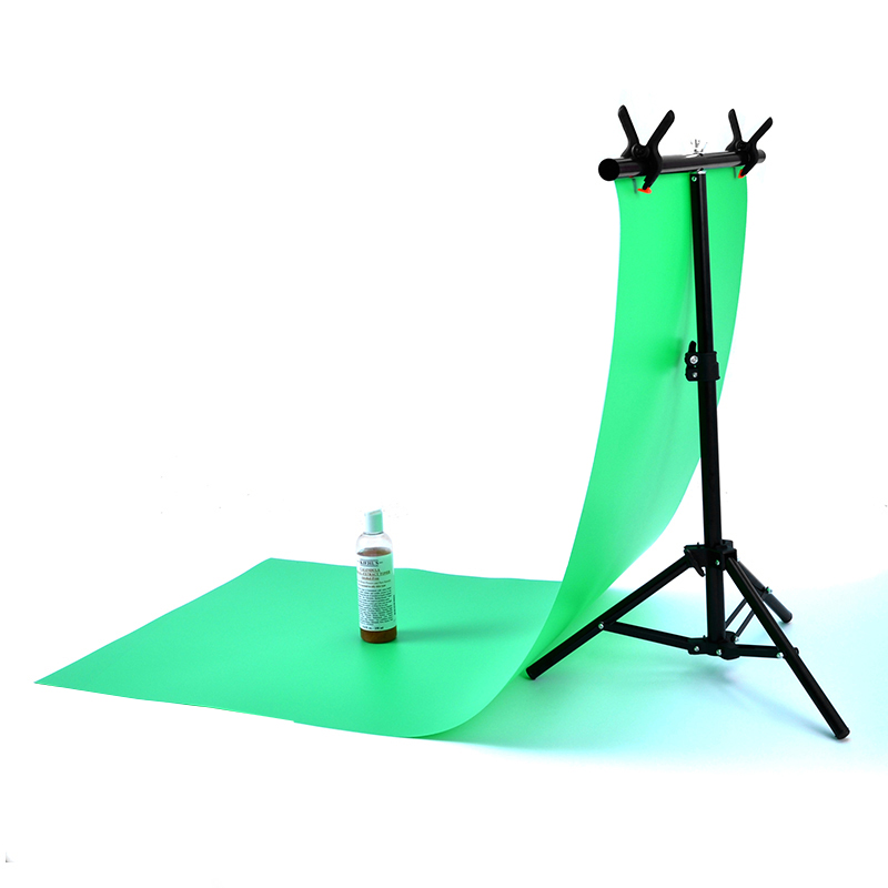 Photography PVC Backdrop Background Support Stand System Metal Backgrounds For Photo Studio With 2 Clamps 68cm X 76cm