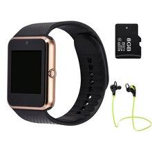 Reloj inteligente Reloj para android Sync Notificador GT08 TF Tarjeta Sim Conectividad Bluetooth 0.3MP cámara PK dz09 gv18 u8